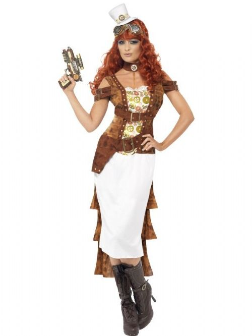 Steam Punk Wild West Agent Costume, Female